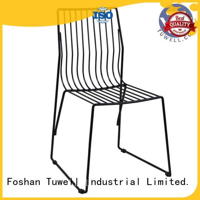 black wire chair steel wire chair Tuwell Brand