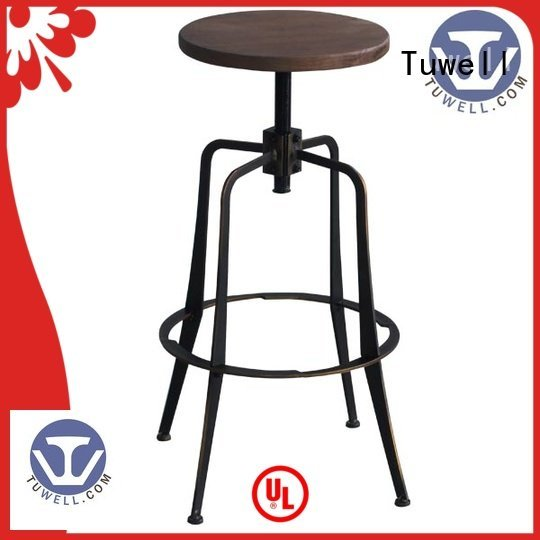 steel folding chairs chair Outdoor Suitable barstool Tuwell