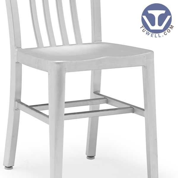 TW1004 Aluminum Navy Side Chair indoor and outdoor strong Aluminum dinning chair coffee chair party chair