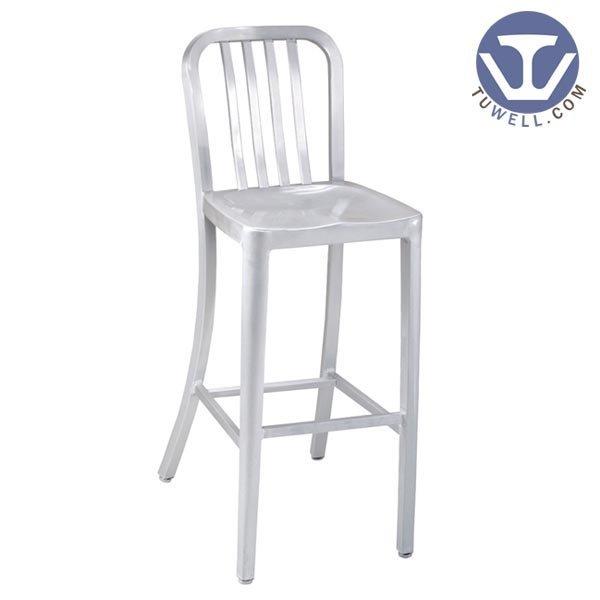 TW1004-M Aluminum Navy Counter Chair