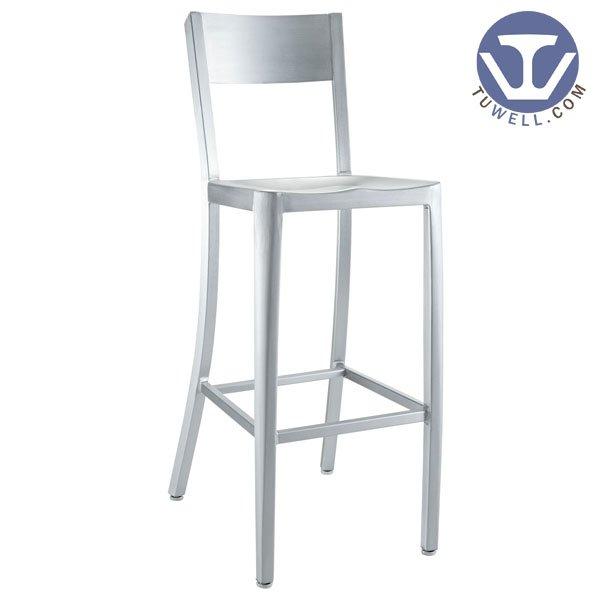 TW1006-L Aluminum Navy Barstool indoor and outdoor strong Aluminum dinning chair coffee chair party chair banquet chair