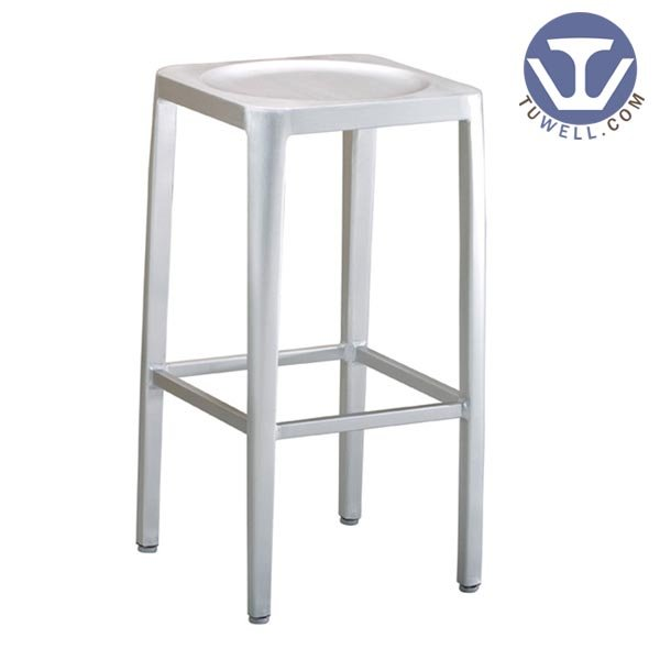 TW1010-L Emeco Navy Square Barstool indoor and outdoor strong Aluminum dinning chair coffee chair party chair banquet chair