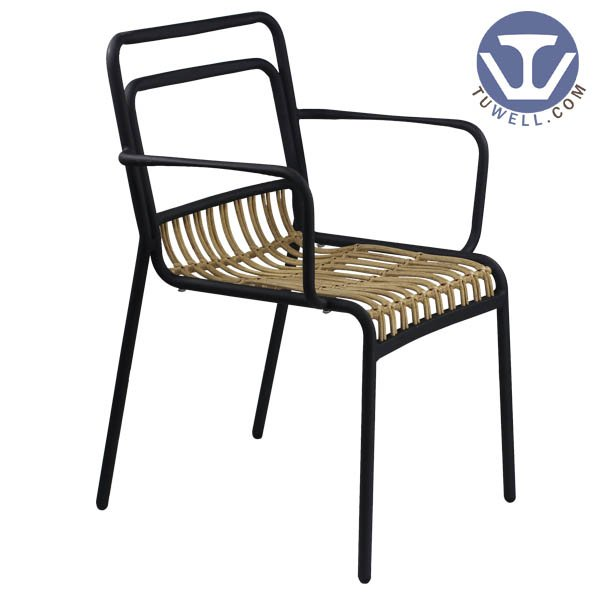 TW8111 indoor outdoor Aluminum rattan chair dinning chair coffee chair party chair European leisure style high quality supplier