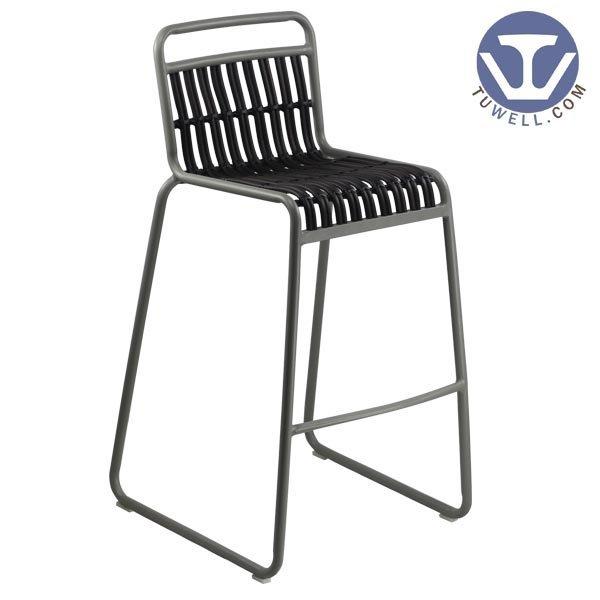 TW8109-L indoor and outdoor Aluminum rattan bar chair dinning bar chair bistro chair party chair European leisure style high qua
