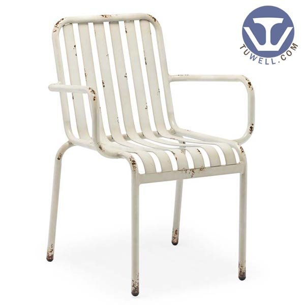 TW8106 Aluminum chair for dining Aluminum slat chair
