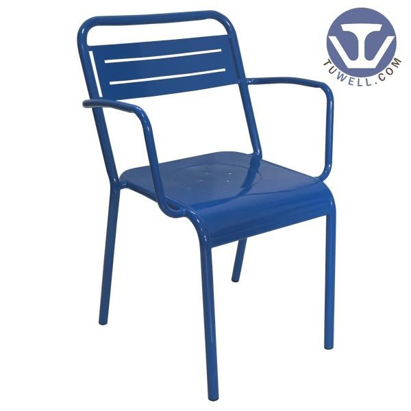 TW8019 Steel chair for dining, steel chair with arms