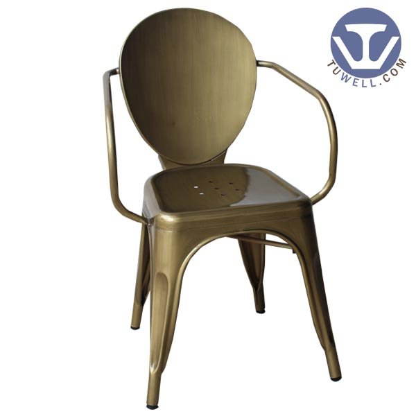 TW8020 Steel chair with armrest for dining coffee shop chair banquet chair Nodic style