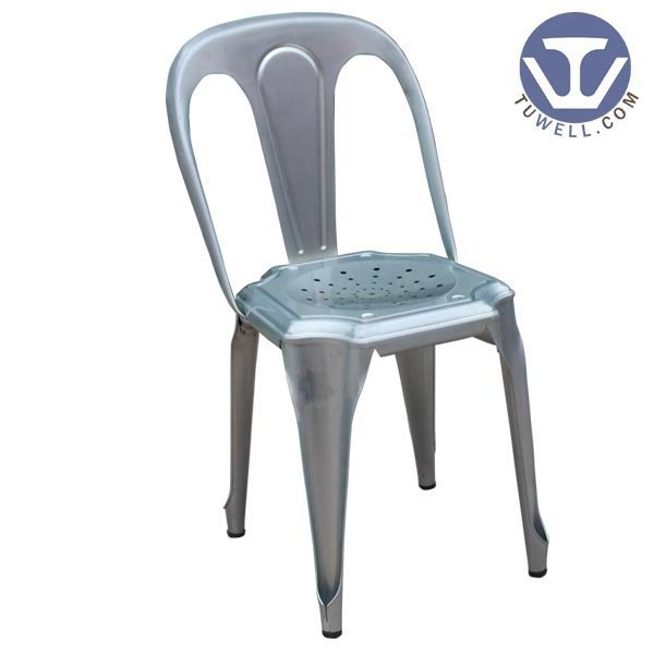 TW8009 Steel chair for dining coffee chair party chair tolix chair with ventilated holes seat pan