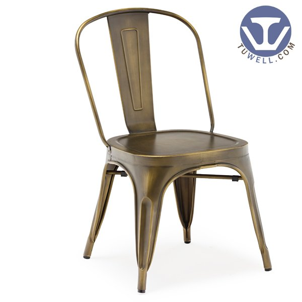 TW8001-B Steel Tolix chair, steel dining chair, restaurant chair, big size Seat plate