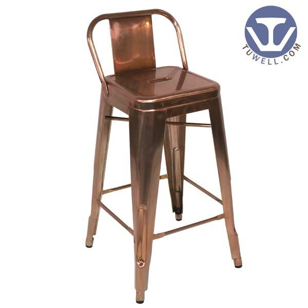 TW8005-L Steel Tolix barstool, dining chair, barstool with backrest, steel stool