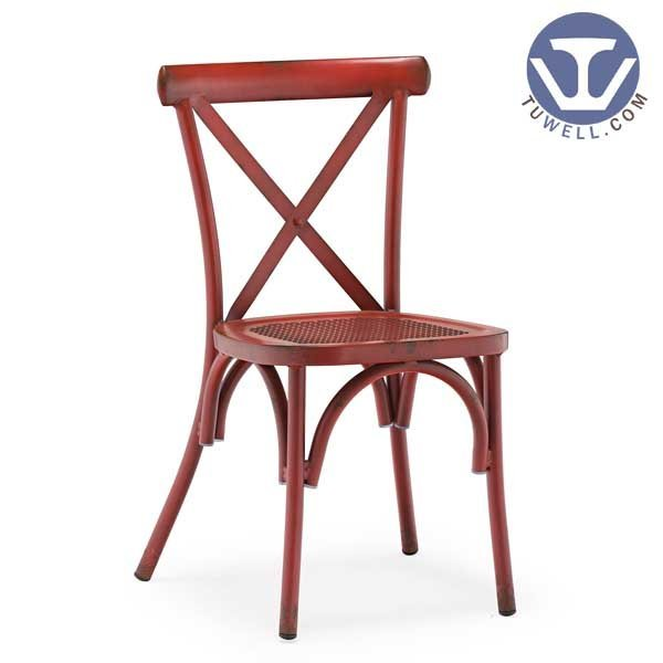 TW8080-B Aluminum cross back chair indoor and outdoor dinning chair coffee chair party chair wedding chair  banquet chair