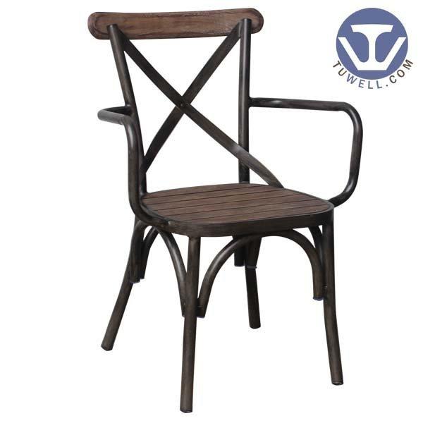 TW8081-W Aluminum cross back chair