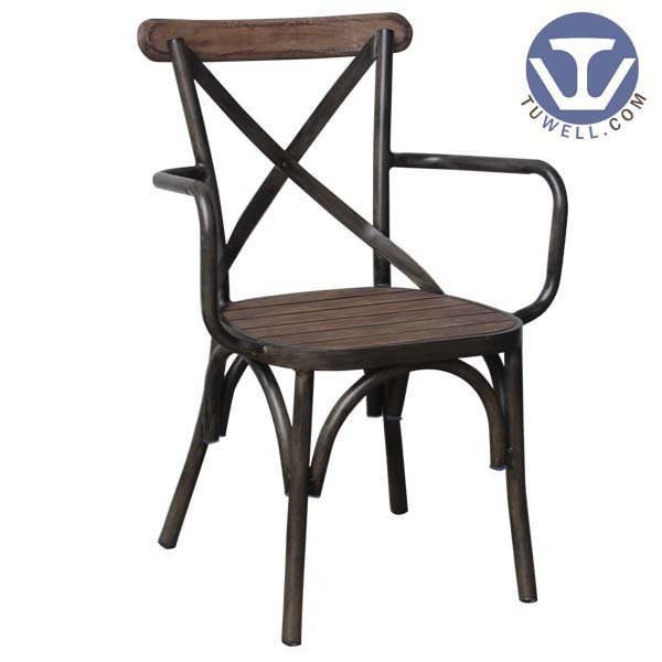 TW8081-W indoor and outdoor aluminum cross back chair for dinning European style