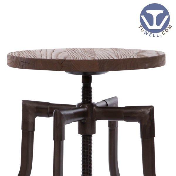 TW8039 Steel bar stool coffee shop bar stool Rotatable stool Nordic style