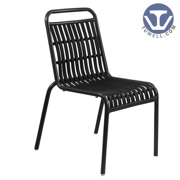 TW8108 indoor and outdoor Aluminum rattan chair for coffee shop European leisure style