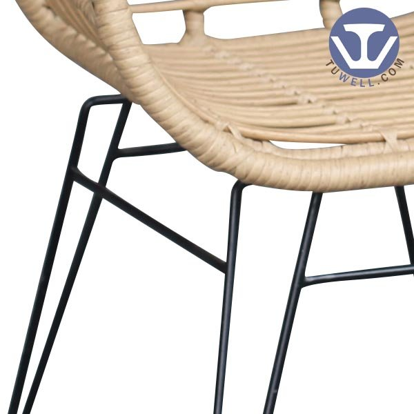TW8711 Rattan chair indoor and outdoor rattan chair living room chair garden chair coffee chair European leisure style