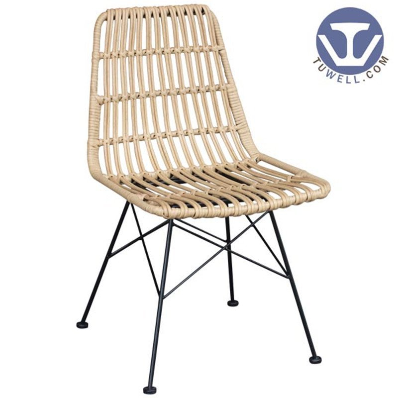 TW8708 metal Rattan chair natural dinning chair European leisure style
