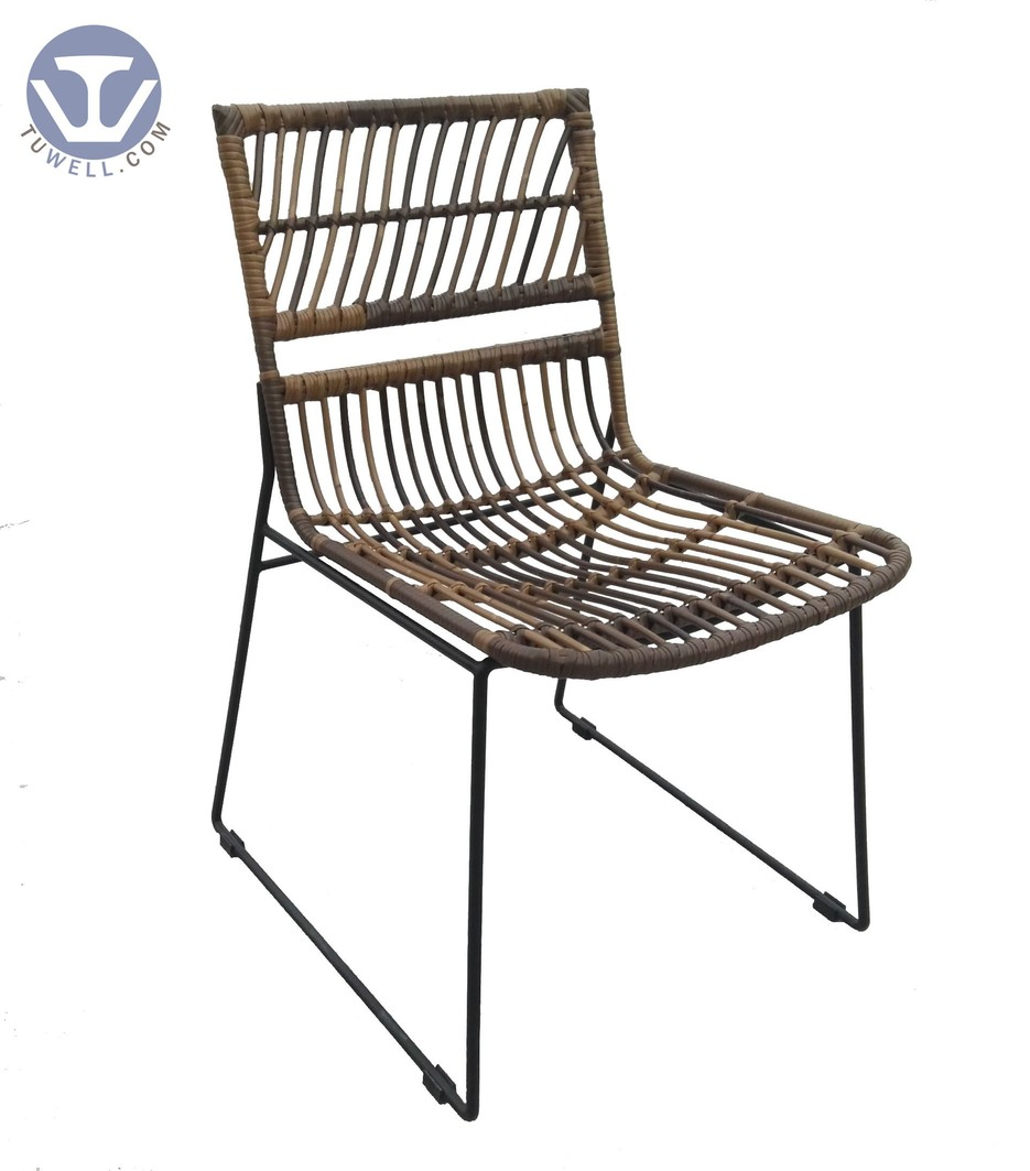 TW8716 Rattan chair indoor and outdoor rattan chair natural garden chair  European leisure style