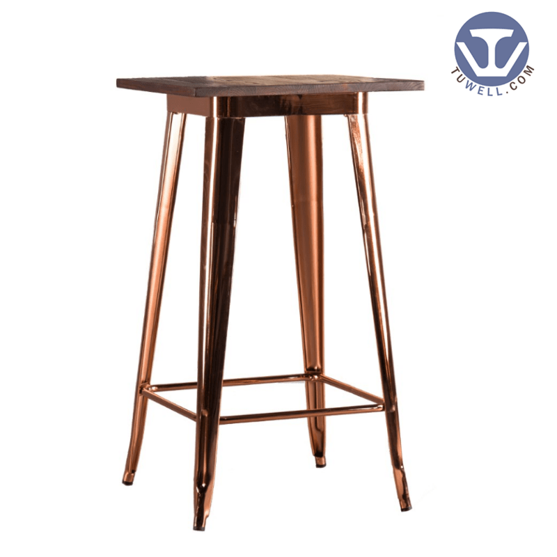 TW8008-LW Wood dining bar table cafe bar table
