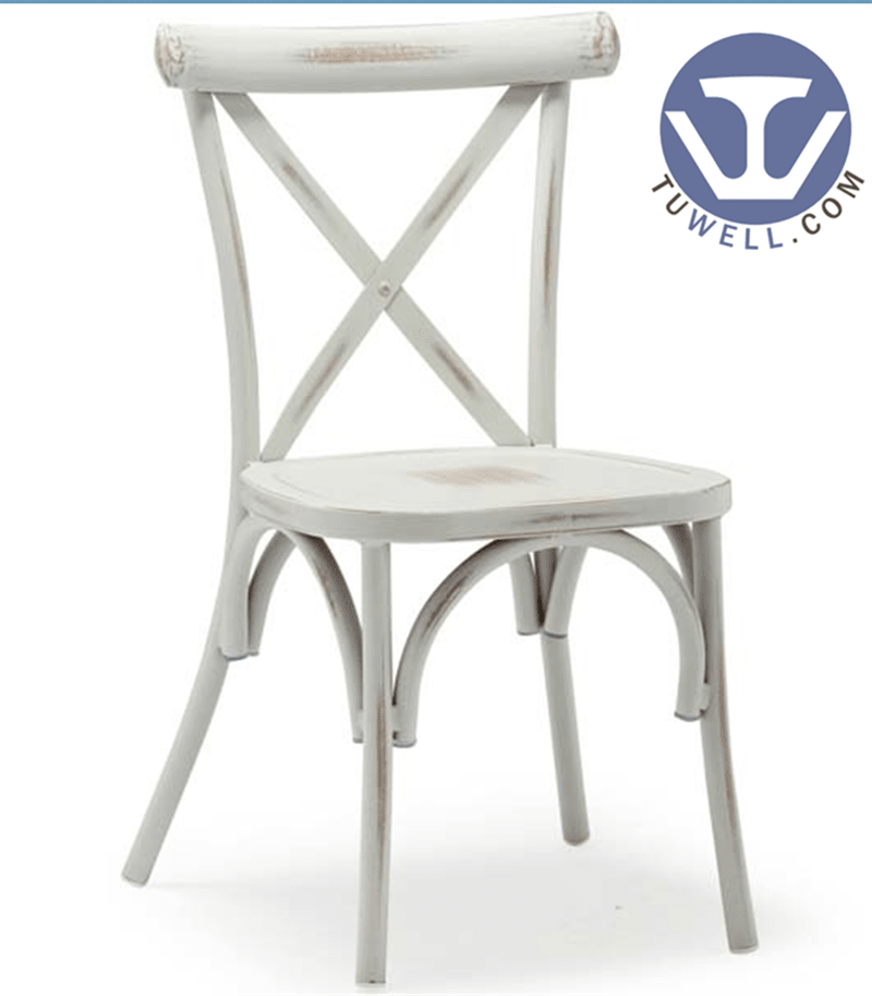 TW8080 vintage Aluminum cross back chair indoor outdoor dinning chair coffee chair party chair wedding chair  banquet chair
