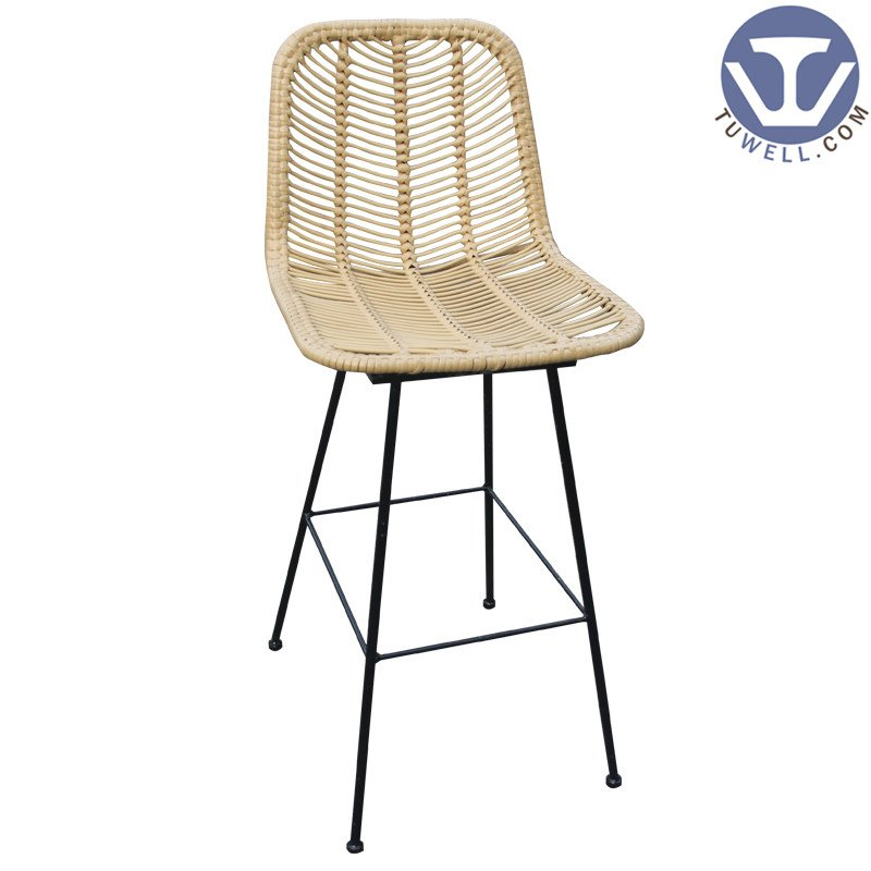 TW8726-L natural Rattan bar chair indoor and outdoor rattan furniture European leisure style