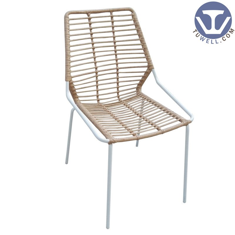 TW8722 Metal PE Rattan chair  dinning chair  with natural color European leisure style