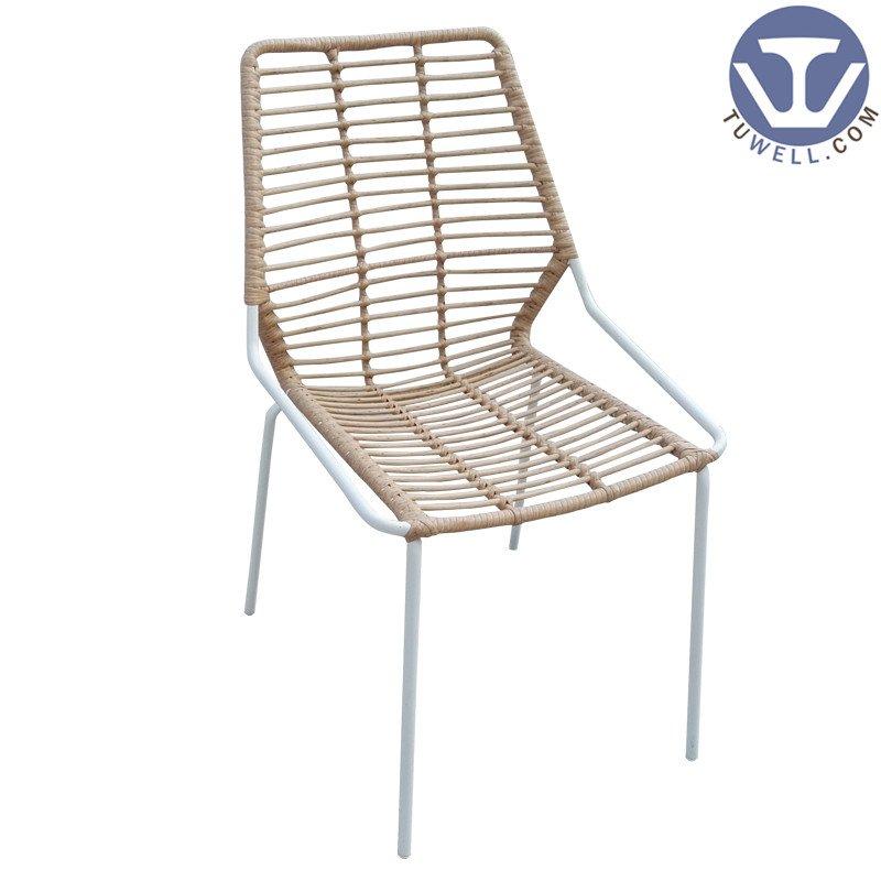 TW8722 metal Rattan chair natural dinning chair European leisure style
