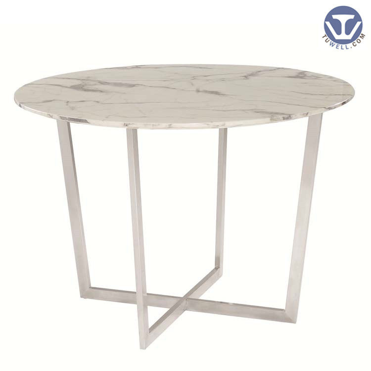 TW7047 Artificial quartz stone table, coffee table, restaurant table