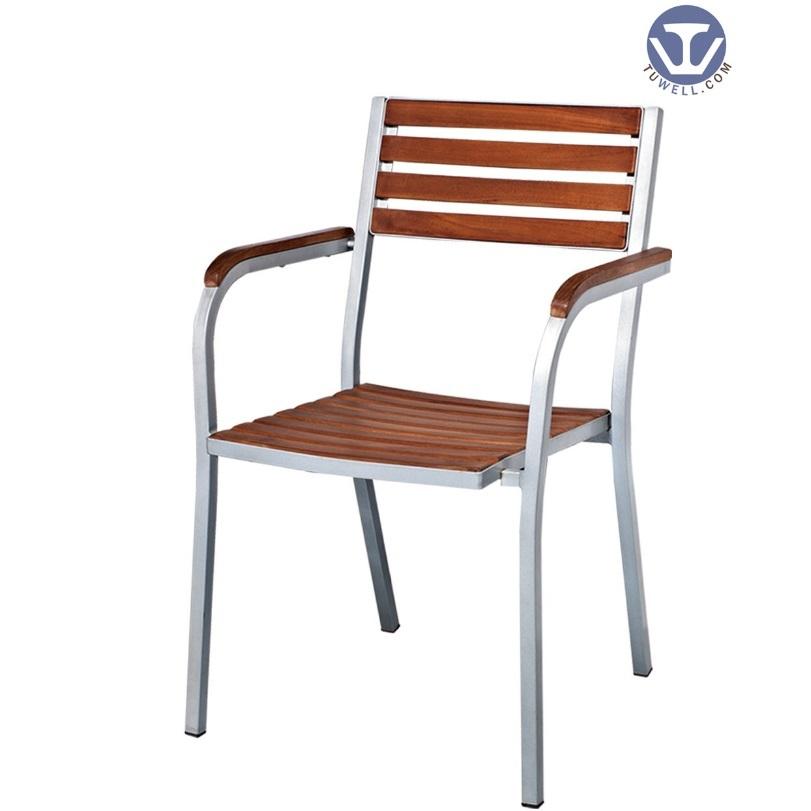 TW4015 Aluminum wooden chair Leisure chair