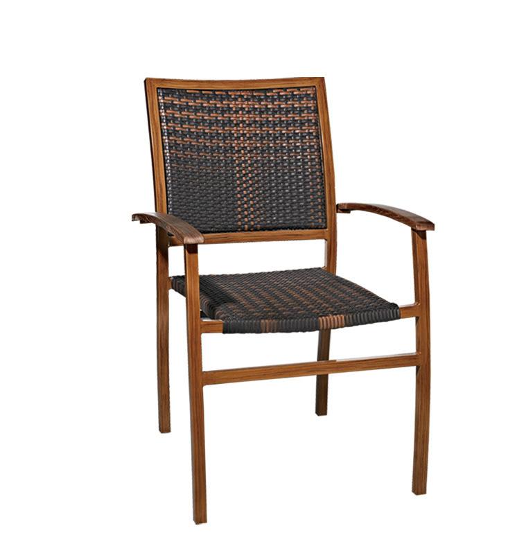TW3006 aluminum rattan chair dining chair