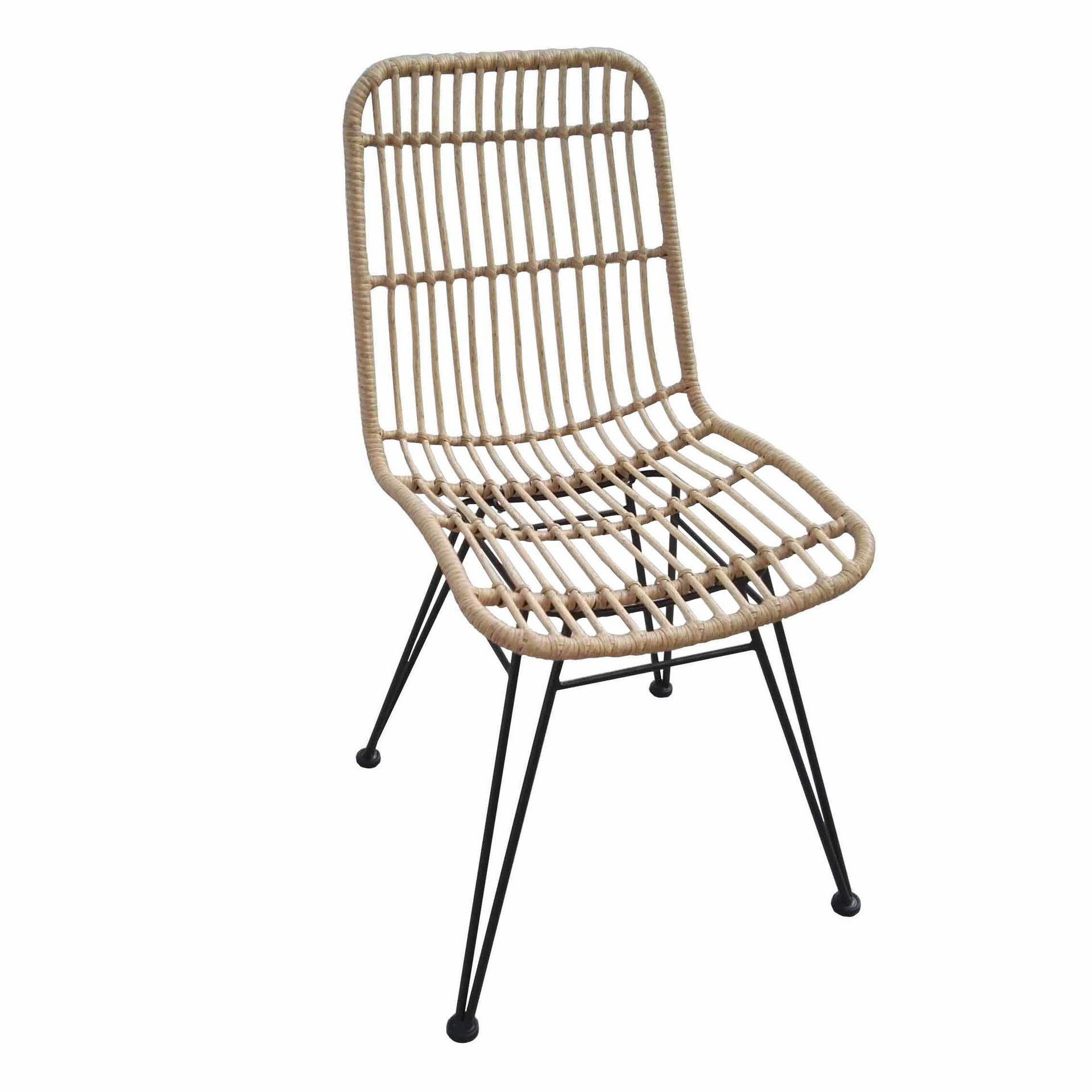TW8708S metal Rattan chair natural dinning chair European leisure style