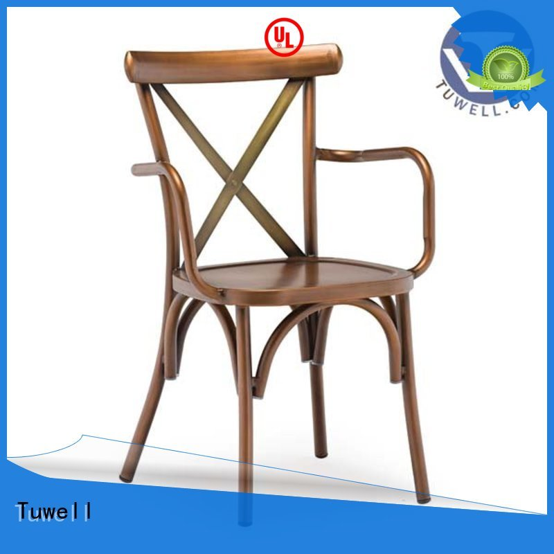 cross back chairs wholesale Outdoor ODM cross back chairs metal Tuwell Brand