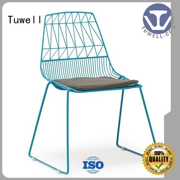 wire steel bar chair Tuwell black wire chair