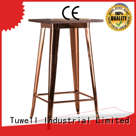 OEM stainless steel bar bar steel Mounting bar height dining table