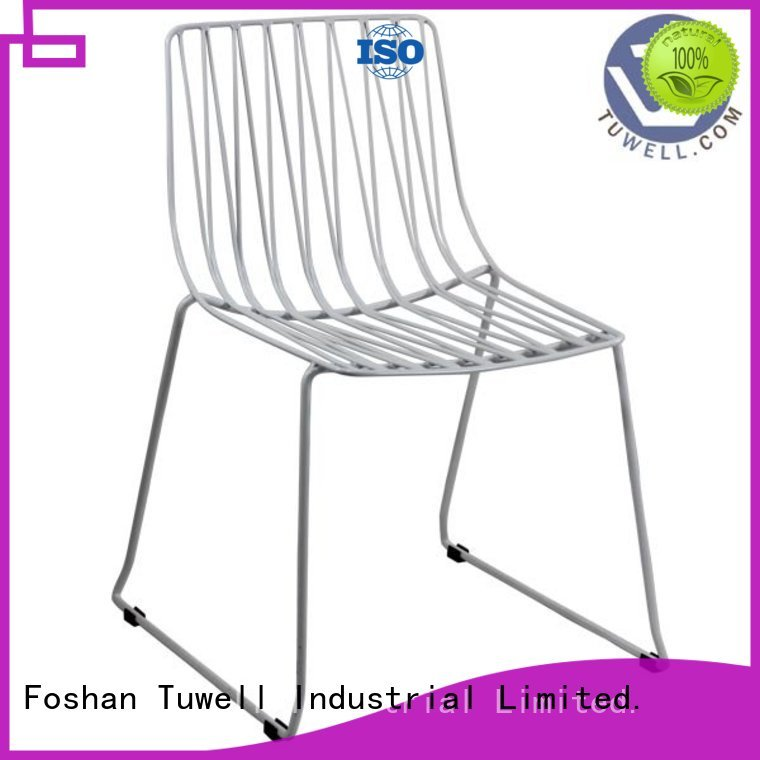 Tuwell Brand bar steel metal lucy wire chair