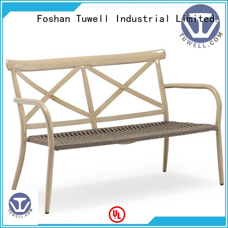 Custom Rope chair factory aluminum Outdoor Suitable Tuwell