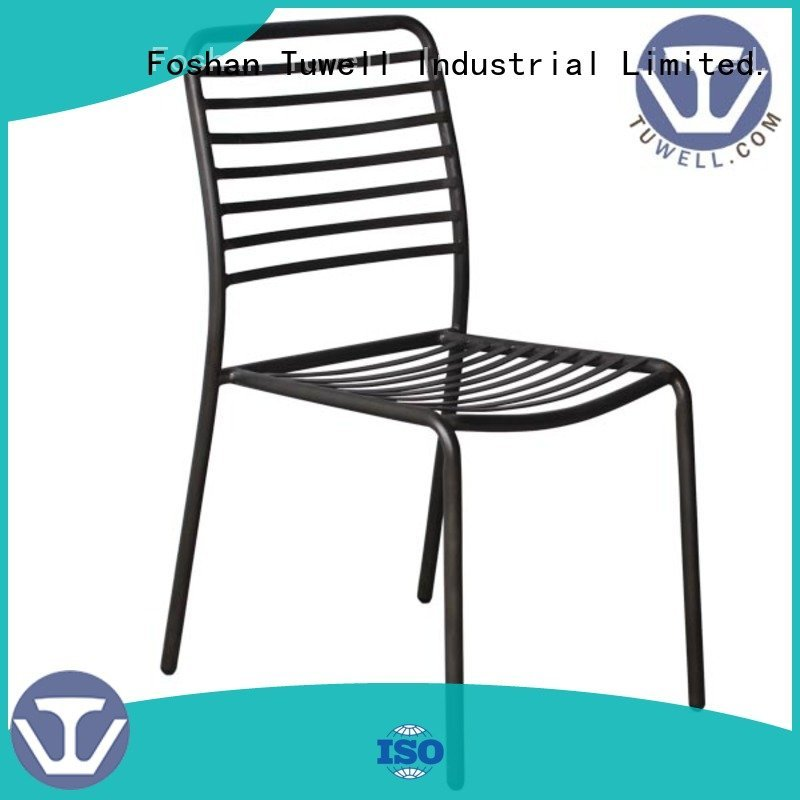Tuwell Brand chair bar metal black wire chair