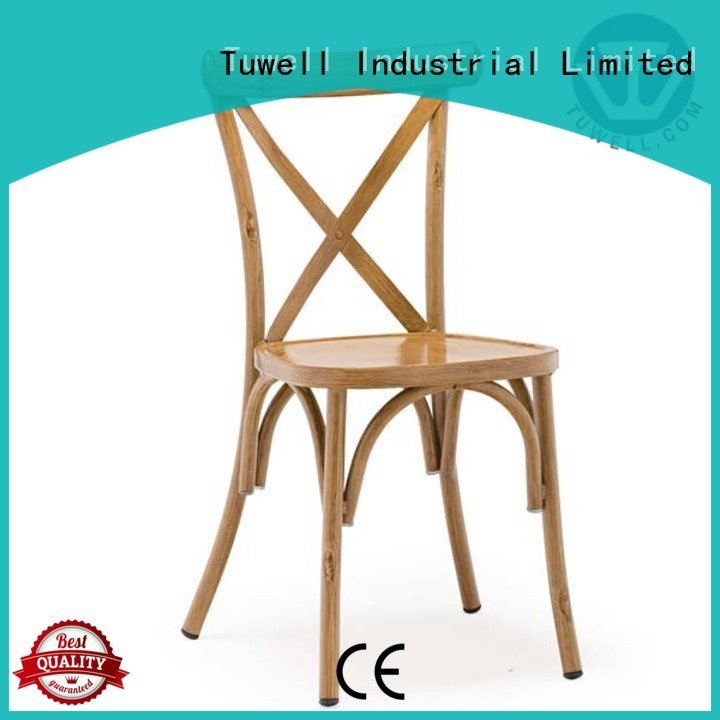 Wholesale aluminum Mounting cross back chairs Tuwell Brand