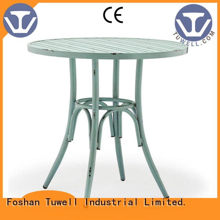 Tuwell Brand Outdoor Suitable bar height dining table table steel