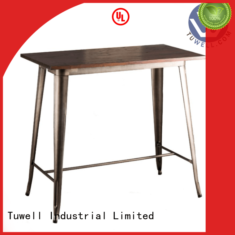 stainless steel bar Outdoor bar bar height dining table Tuwell Brand