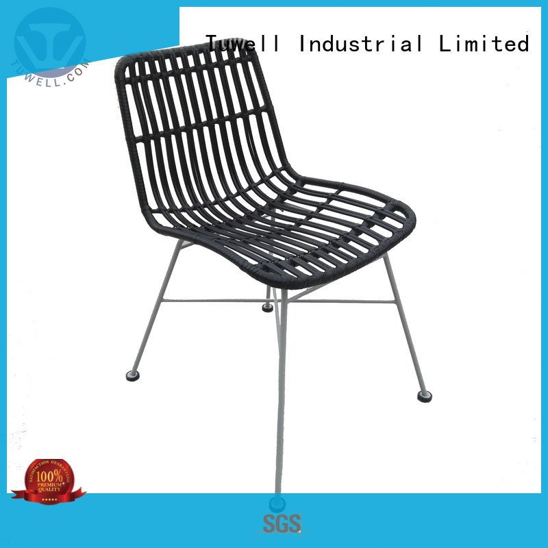 black wire chair bar Rattan chair design