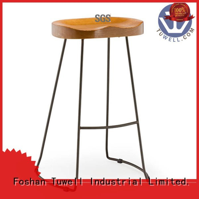 steel folding chairs Outdoor barstool Tuwell Brand
