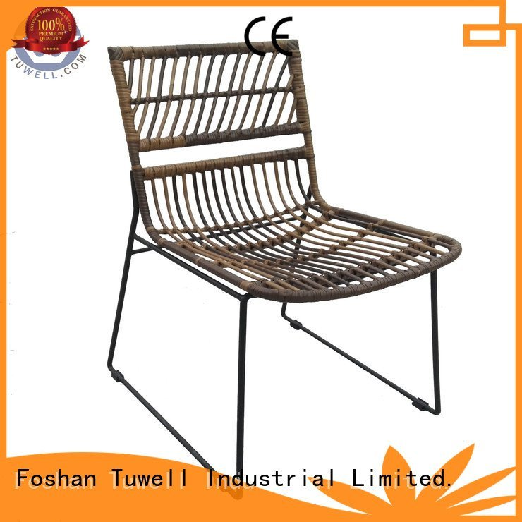 black wire chair bar aluminum OEM Rattan chair Tuwell