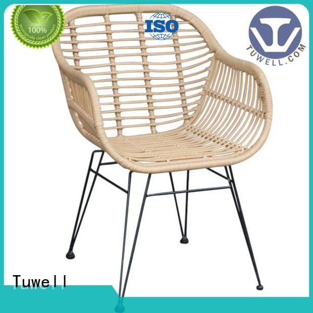 Rattan chair wholesale aluminum design Self-Sabilizing Tuwell Brand Rattan chair