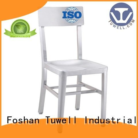 wood steel slat Tuwell navy blue dining chairs