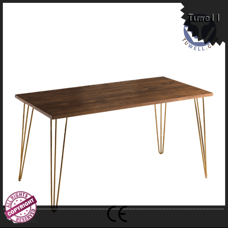 Outdoor steel bar height dining table Tuwell Brand