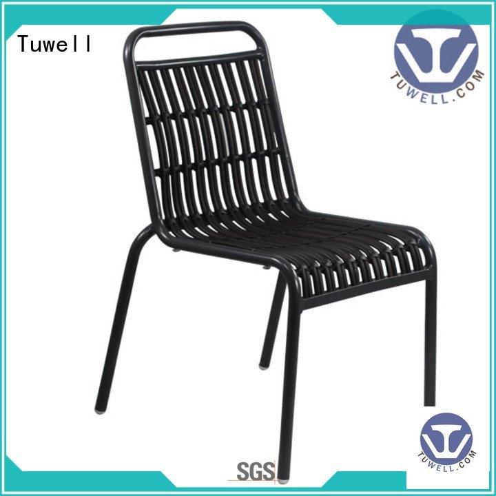 Tuwell Brand Outdoor ODM aluminum Rattan chair ODE