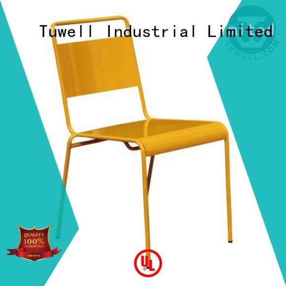 Outdoor steel folding chairs simon steel Tuwell Brand