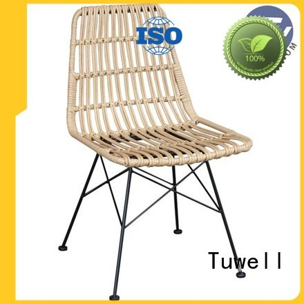 Wholesale aluminum ODM Rattan chair Tuwell Brand