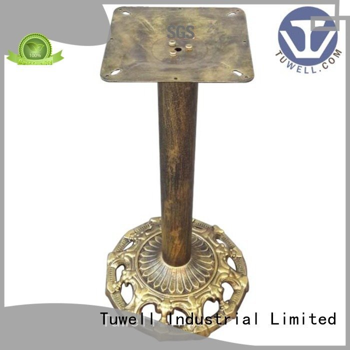 stainless cast table base Tuwell cast iron dining table base